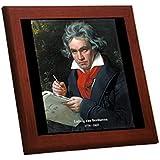 ベートーベンの木枠付きフォトタイル(世界の音楽家シリーズ)