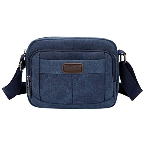 Bags Men's Laptop Blue Canvas body Shoulder For Cross Work Messenger Byqny Bag And School Horizontal ABFw1gq