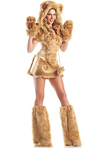 Be Wicked Costumes Women's Golden AR Costume, Brown, Medium/Large