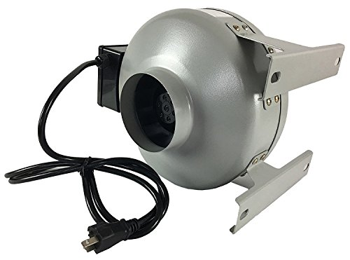 Tjernlund M-4 Metal Inline Duct Fan, 200 CFM, 4''