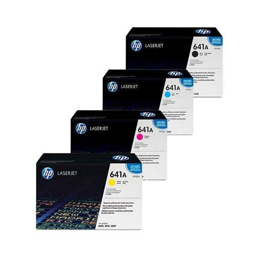 HP C9720A, C9721A, C9722A, C9723A (HP Color Series) Toner Cartridge 4 Pack Set, 8K-9K Yield, Black, Cyan, Yellow, Magenta Toner Cartridge 4 Pack Set