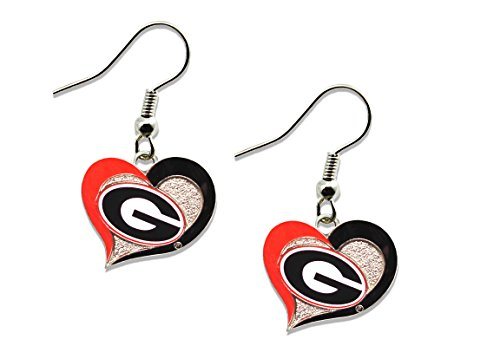 Bulldogs Heart (NCAA Georgia Bulldogs Swirl Heart Errings)