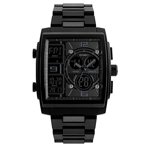 SKMEI Men Fashion Watches Count Down Chronograph Alarm Sport Watch Watwrproof EL Light Digital Wristwatches Relogio Masculino