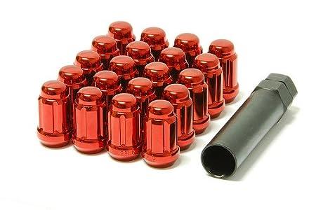Set of 20 Muteki 41885B Black 12mm x 1.25mm Closed End Spline Drive Lug Nut Set with Key,
