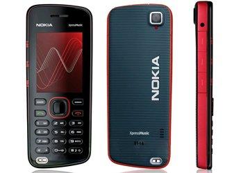 Nokia 5220 XpressMusic GSM Unlocked Cellphone (Red) - International Version No Warranty