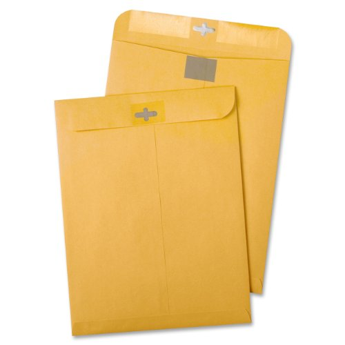Box 10x13 100 (Quality Park Postage Saving Clear-Clasp Envelopes, 10 inches x 13 inches, Kraft, 100 Count (43768))