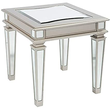 bf6176a097b25 Image Unavailable. Image not available for. Color  Metal End Table with Curved  Inset ...