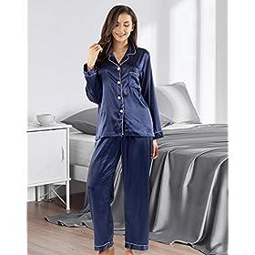 GAESHOW-Pijamas-de-seda-para-mujer-de-manga-larga-con-botones-y-pijamas-de-Navidad