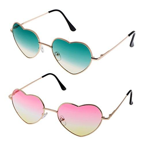 Gradiente B en Gafas Forma Deporte Conducción Sol de Lente Corazón 2 Playa de Piezas Blesiya para Fiesta Colorido qCAaxrnqP