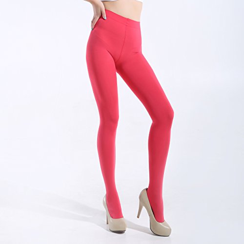 208281ca7dca8 Women's 100 Denier Tights 2Pair Semi Opaque Solid Color Footed Pantyhose