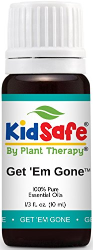 Plant Therapy KidSafe Get 'Em Gone (Formerly Lice Away) Synergy Essential Oil Blend. 100% Pure, Undiluted, Therapeutic Grade Essential Oils. 10 ml (1/3 oz). Essential Oils Head Lice