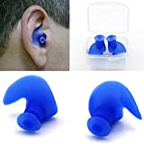 Swim earplugs Adult 1 Pair Hot Waterproof Swimming Professional Silicone Swim Earplugs for Adult Swimmers Children Diving Soft Anti-Noise Ear Plug