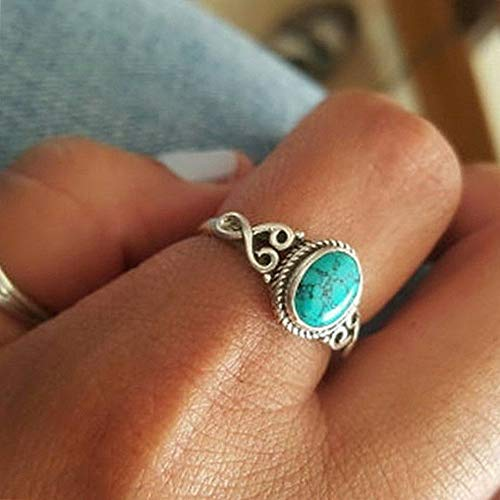 (Endicot Vintage Women 925 Silver Ring Turquoise Men Wedding Engagement Party Size 6-10 | Model RNG - 5616 | 8)