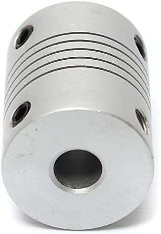 CynKen 4 Pieces 3mm x 5mm Aluminum Flexible Shaft Coupling OD19mm x L25mm CNC Stepper Motor Coupler Connector