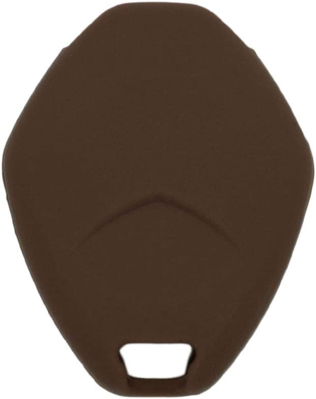 SEGADEN Silicone Cover Protector Case Holder Skin Jacket Compatible with MITSUBISHI 4 Button Remote Key Fob CV4522 Deep Purple