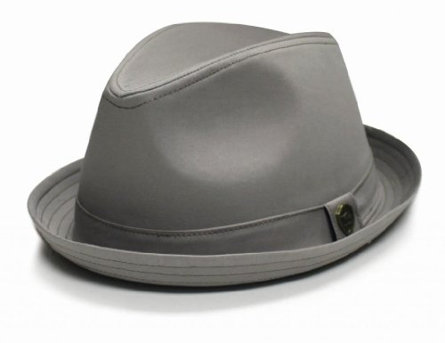 City-Hunter-Pmt111-Cotton-Plain-Roll-up-with-Self-Band-Fedora-4-Colors