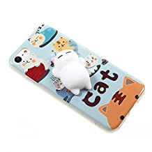 Squishy Cat Case iPhone 6/6S Plus, 3D Cute Soft Silicone Poke Squishy Cat Phone Back Cover for iPhone 6 Plus iPhone 6S Plus