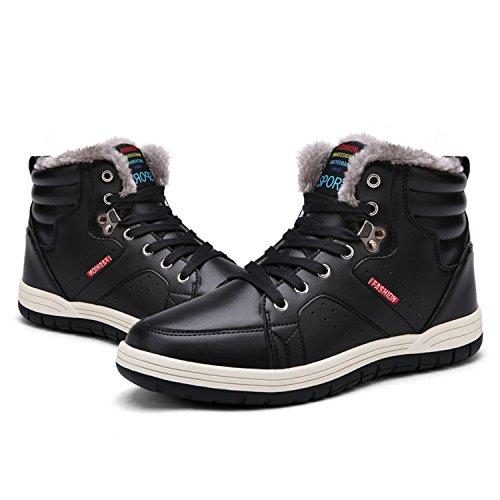 Snow Booties Lining Mens Ankle L Boots black RUN Lightweight 9927m Fur Warm Winter Outdoor tvzCwaCqx