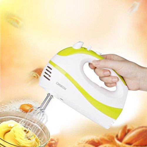 Egg-beater, Saingace Hot New Electric 5 Speed Handheld Hand Blender Mixer Whisk Beater Cake Baking
