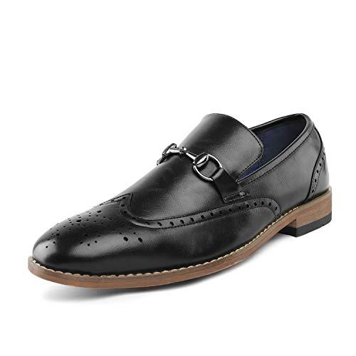 Bruno Marc Men's Black Dress Loafers Wingtip Shoes William_5 Size 8 M ()