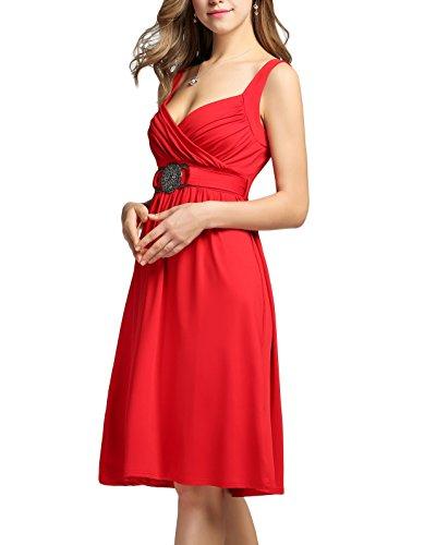 ZEARO Damen Elegant Cocktailkleid Partykleid Abschlusskleid ...
