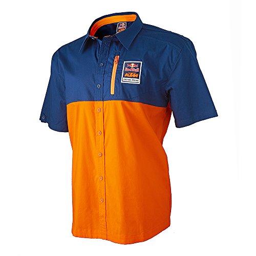 [Red Bull KTM Factory Racing 2016 Performance Team Shirt Navy Blue X-Large] (Mens Navy Blue Bull)