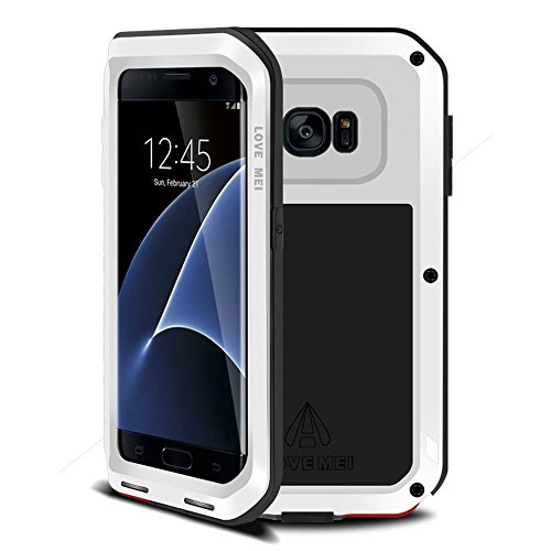 Shockproof Armor Case for Samsung Galaxy S7 Edge (White) - 3