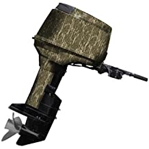 Mossy Oak Graphics 10005-40-BL Bottomland 40 HP or Less Boat Motor Camouflage Kit