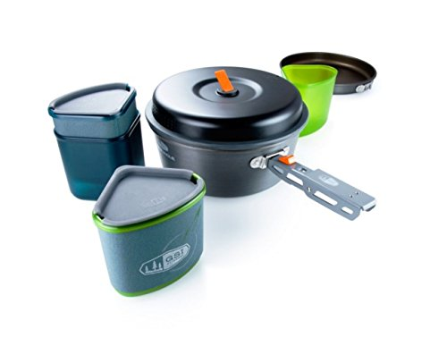 GSI Outdoors - Pinnacle Backpacker, Nesting Cook Set, Superior Backcountry Cookware