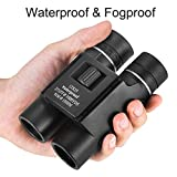 OMZER 12X25 Waterproof Fogproof Compact Binoculars With Low Light Night Vision, Easy Focus
