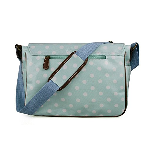 Miss Lulu, Borsa a secchiello donna Polka Dots Light Blue