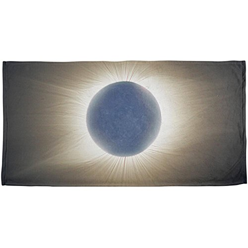 Old Glory Crown of the Sun Solar Eclipse 2017 All Over Beach Towel Multi Standard One Size by Old Glory