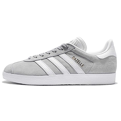 Adidas Women's Gazelle W Fashion Sneakers GREY/WHITE/GOLD (Large Image)