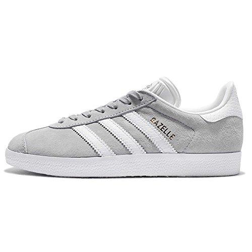 adidas Women's Gazelle W, GREY/WHITE/GOLD, 7 US (Adidas Women Shoes Gazelle)