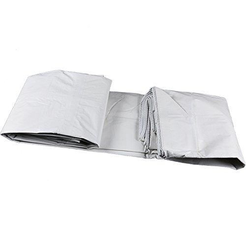 JIANFEI オーニング 防水 両面 プラスチックコーティング 厚い 耐久性のある 車 キャノピー 白、 140G/M2、 8サイズオプション (色 : 白, サイズ さいず : 7m × 5m) B07D4LBSGS 7m × 5m|白 白 7m × 5m