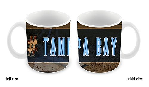 BleuReign(TM) Hashtag Tampa Bay #TampaBay Baseball Team 11oz Ceramic Coffee Mug -