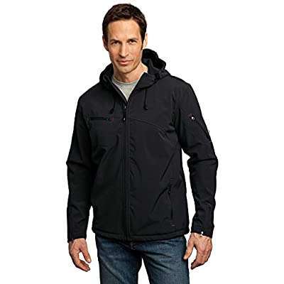 Cheap Port Authority Textured Hooded Soft Shell Jacket