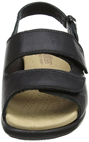Open Hotter Easy Jet Eee Toe Women's Black Sandals Black HpOTp7