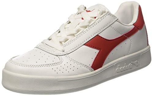 Diadora B. Elite, Sneaker a Collo Basso Unisex – Adulto Multicolore (Bianco/Rosso Ferrari Italia C0823)