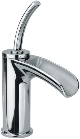 Jewel Faucets 10211JO Chrome Single Joystick Handle Lavatory Faucet With Waterfall Spout