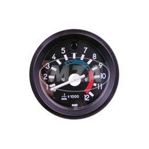 S51 S70 Beleuchtung und Kontrollleuchte blau /ø 60mm mit schwarzen Ring Drehzahlmesser bis 12000U//min Leuchtmittel 12V