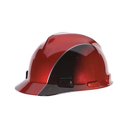 MSA Safety Works SWX00194 V-Gard Hard Hat Rally Cap With Ratchet Red