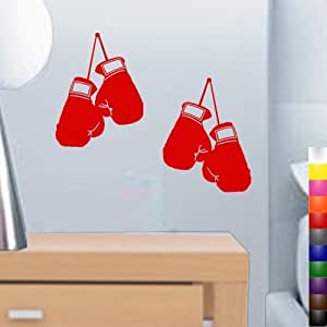 """StikEez Red Small 10"""" Hanging Boxing Gloves 2-Pack Fun Wall Decals"""