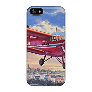 New Arrival Cases Covers With UZk36164UKpx Design For Iphone 5/5s- Plane, Propeller, Sky, Picture