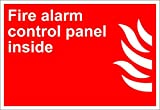 Fire Alarm Control Panel Inside Fire OSHA / ANSI LABEL DECAL STICKER 10 inches x 14 inches
