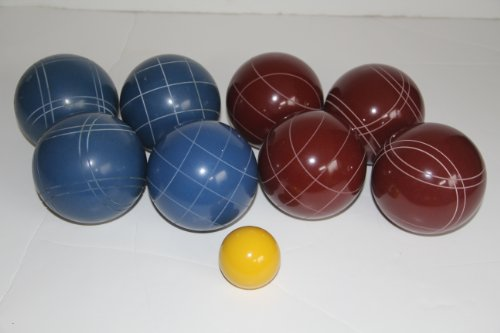 Premium Quality EPCO Tournament Set - 110mm Red and Blue Bocce Balls - NO BAG OPTION [Toy] by Epco