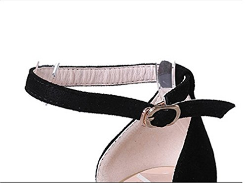 multa con de CXSM shoes black satén 5FIUw