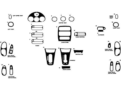Rdash Dash Kit Decal Trim for Chrysler 300M 1999-2004 - Wood Grain (Burlwood - 300 Dash Wood Kit Chrysler