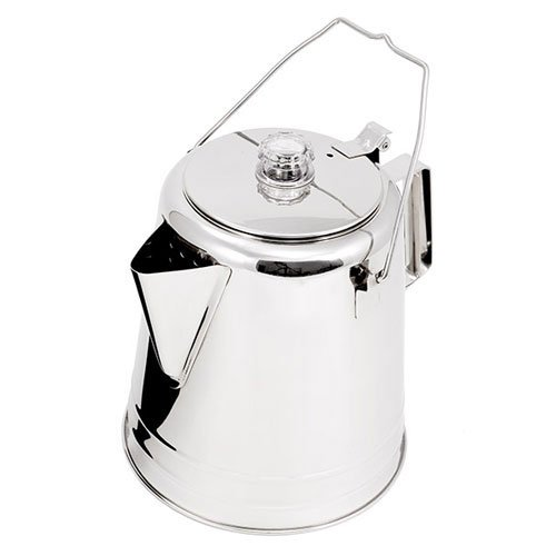 GSI Outdoors Glacier Stainless Coffee Perculator - Campfire