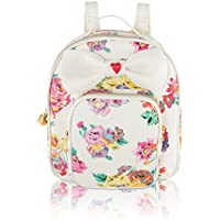 Betsey Johnson Womens Quilted Winged Heart Backpack